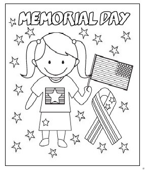 Happy Memorial Day coloring pages for firstgrade