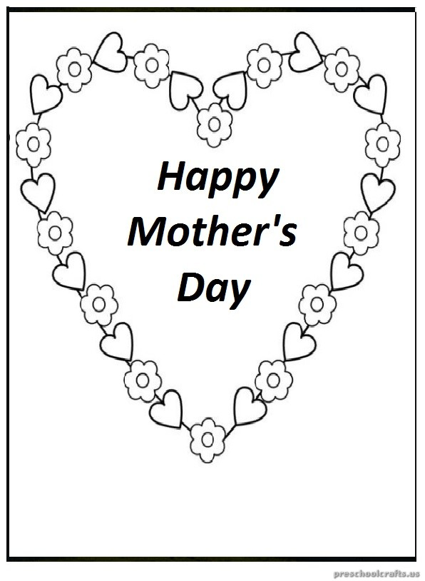 Mother's Day Free Printable Coloring Pages for Preschool
