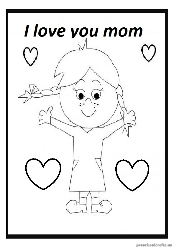 Mother's Day Free Printable Coloring Pages for