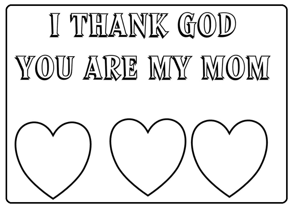 love you mom happy mothers day coloring pages for kids