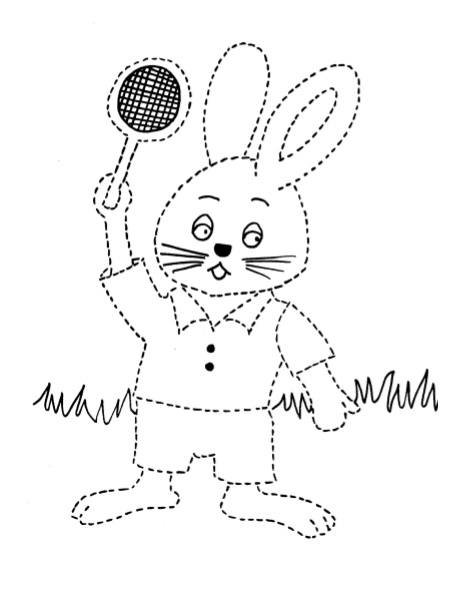 rabbit coloring pages for kindergarten and preschool free