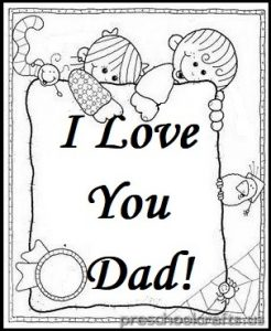 Father's Day theme coloring pages for kindergarten