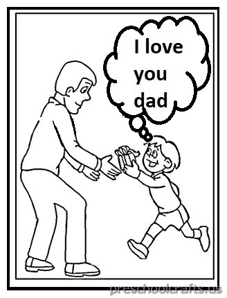 Happy Father's Day Coloring Pages for Preschool and