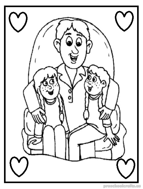 Preschool Fathers Day Pages Coloring Pages