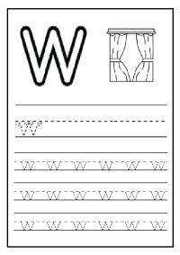 Lowercase Letter w Worksheet / Free Printable - Preschool ...
