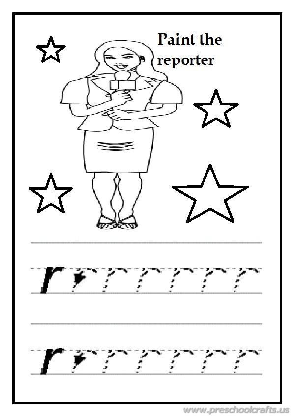 Free practice lowercase letter r worksheet for preschool