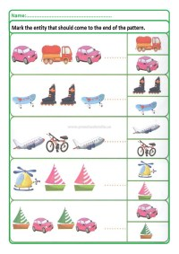 Colored Pattern Worksheets for Kids - Preschool and ...