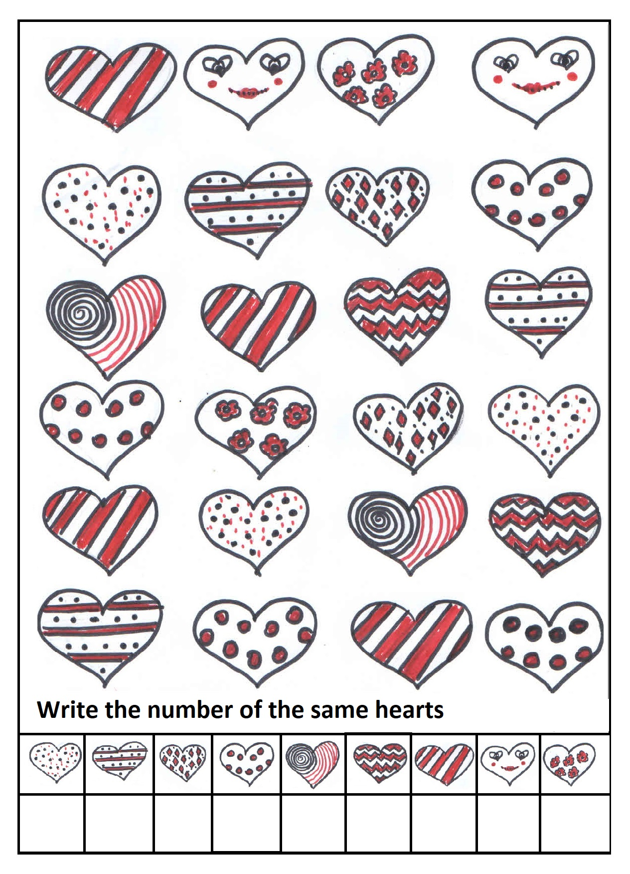 Valentine S Day Worksheet For Preschool And Kindergarten