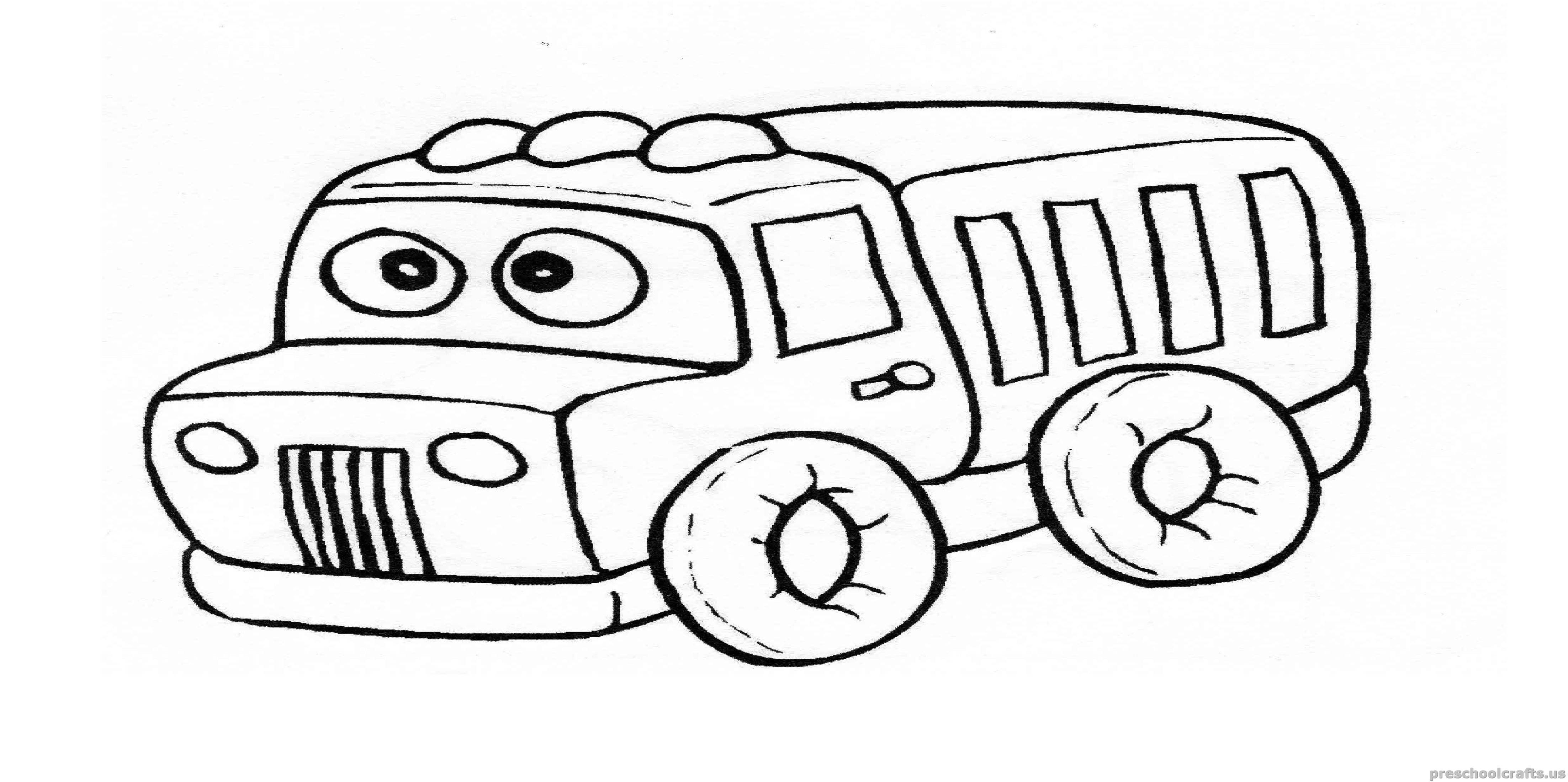 Truck Coloring Page For Preschool And Kindergarten