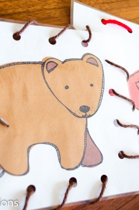 Brown Bear Lacing Cards Busy Bag