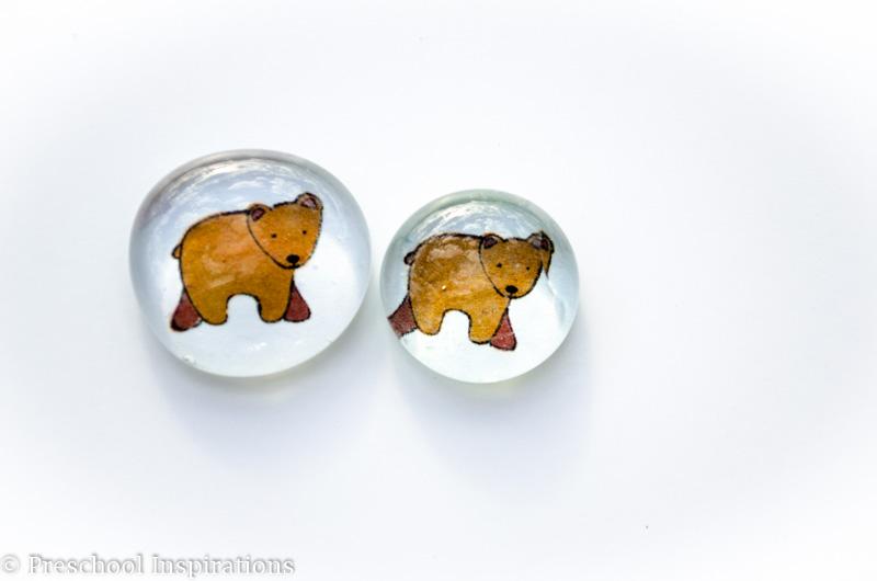 Brown Bear Inspired Glass Beads - Preschool Inspirations
