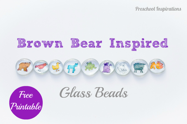 Brown Bear Inspired Glass Beads with free printable- Preschool Inspirations-6