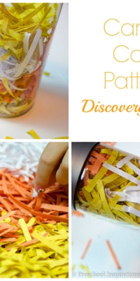Candy Corn Pattern Discovery Bottle