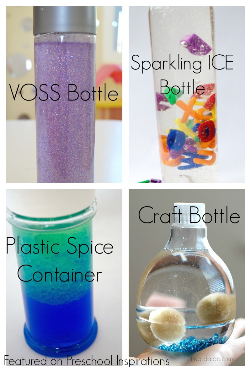 Types of bottles for how to make a perfect sensory bottle