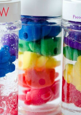 Rainbow Counting Bear Discovery Bottles