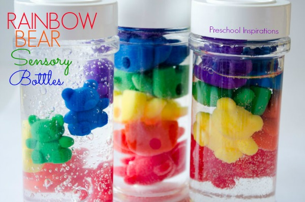 Rainbow Counting Bear Sensory Bottles