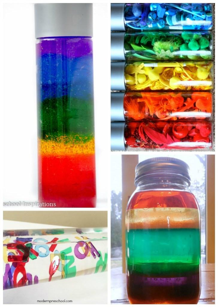 Rainbow discovery bottles
