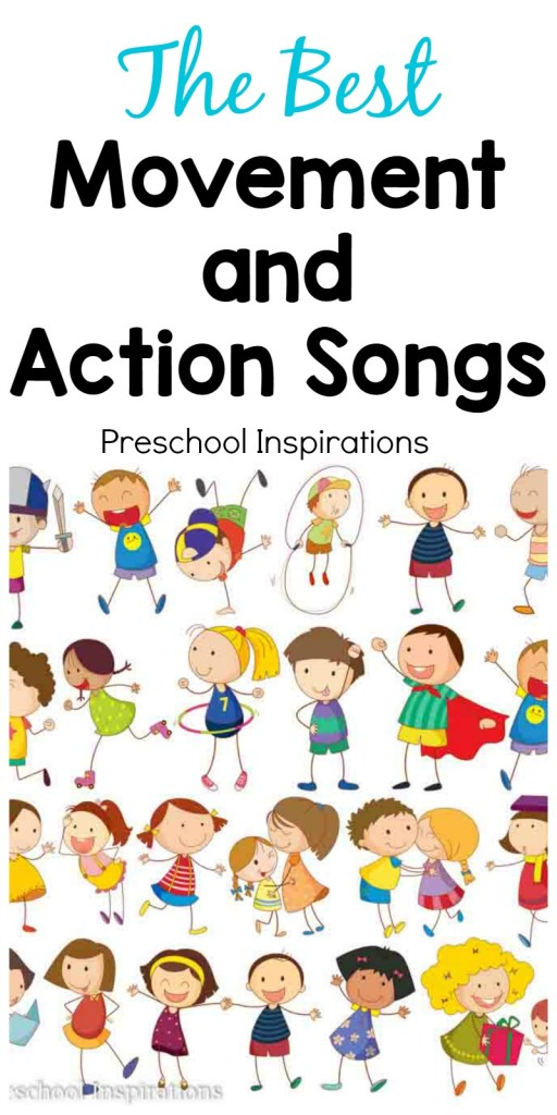Need the perfect song for active children? These are some of the best movement and action songs. They're great for circle time songs or as an indoor activity on a bad weather day. These preschool songs and kindergarten songs are sure to be loved for years!