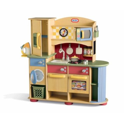 Little Tykes Wooden Kitchen & Laundry Center- Toy Kitchens Product Image.