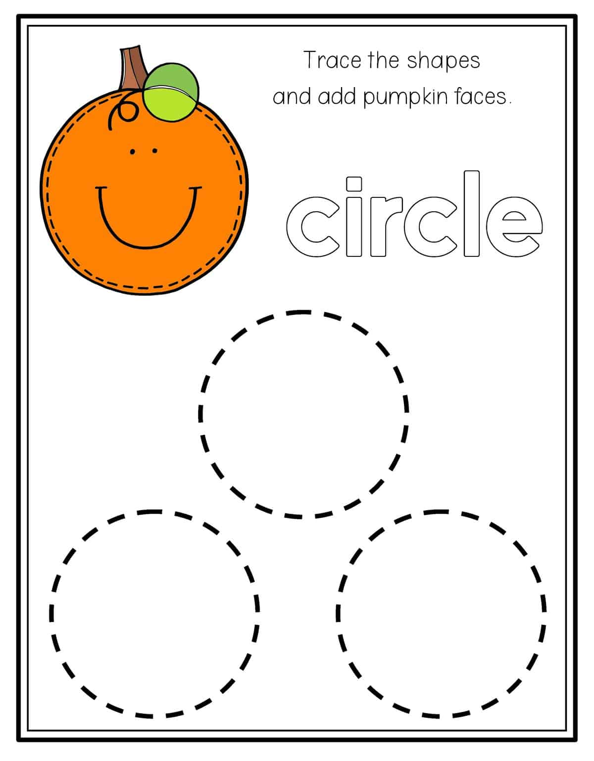 Semi Circle Preschool Worksheet