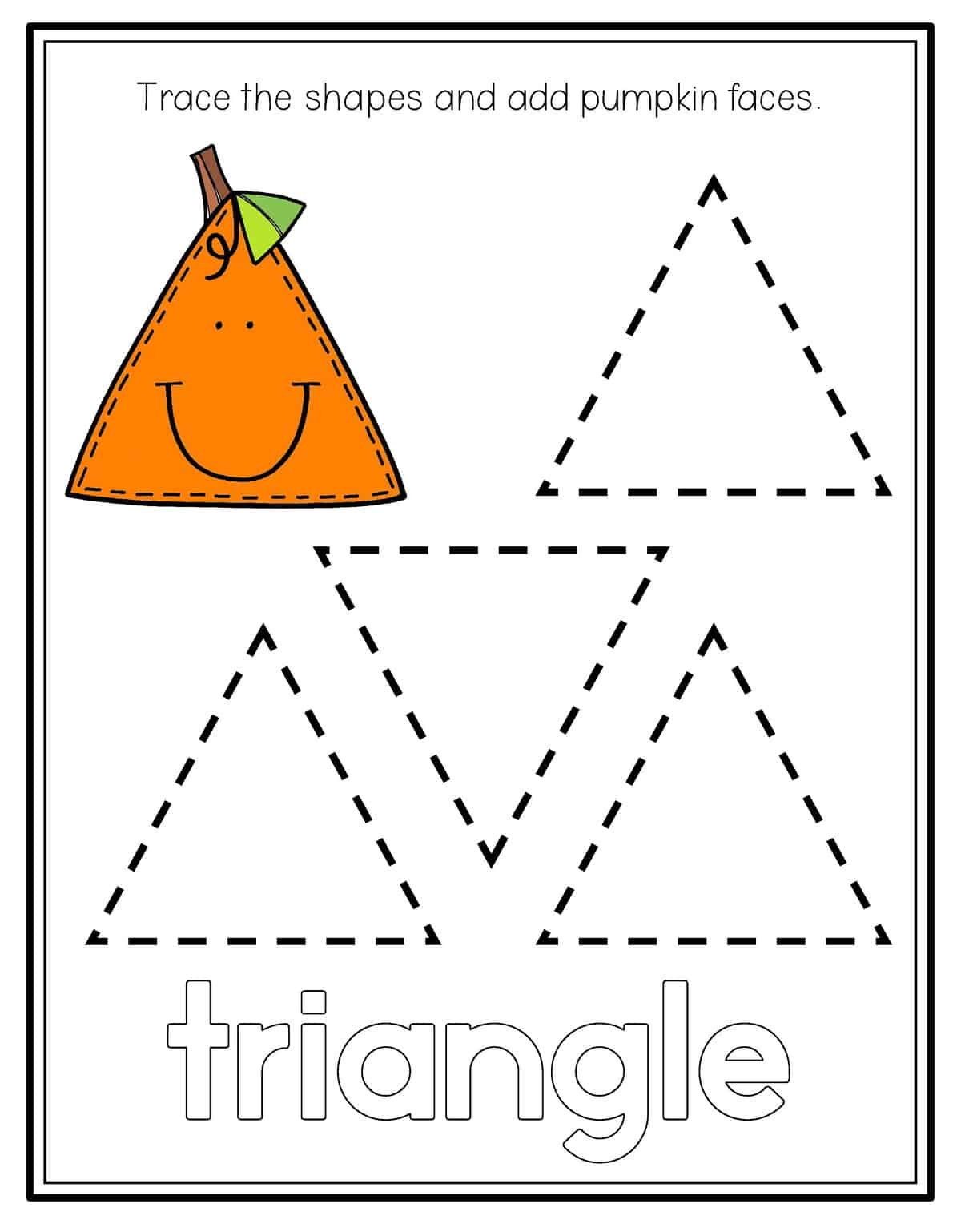 Preschool Triangle Worksheet On