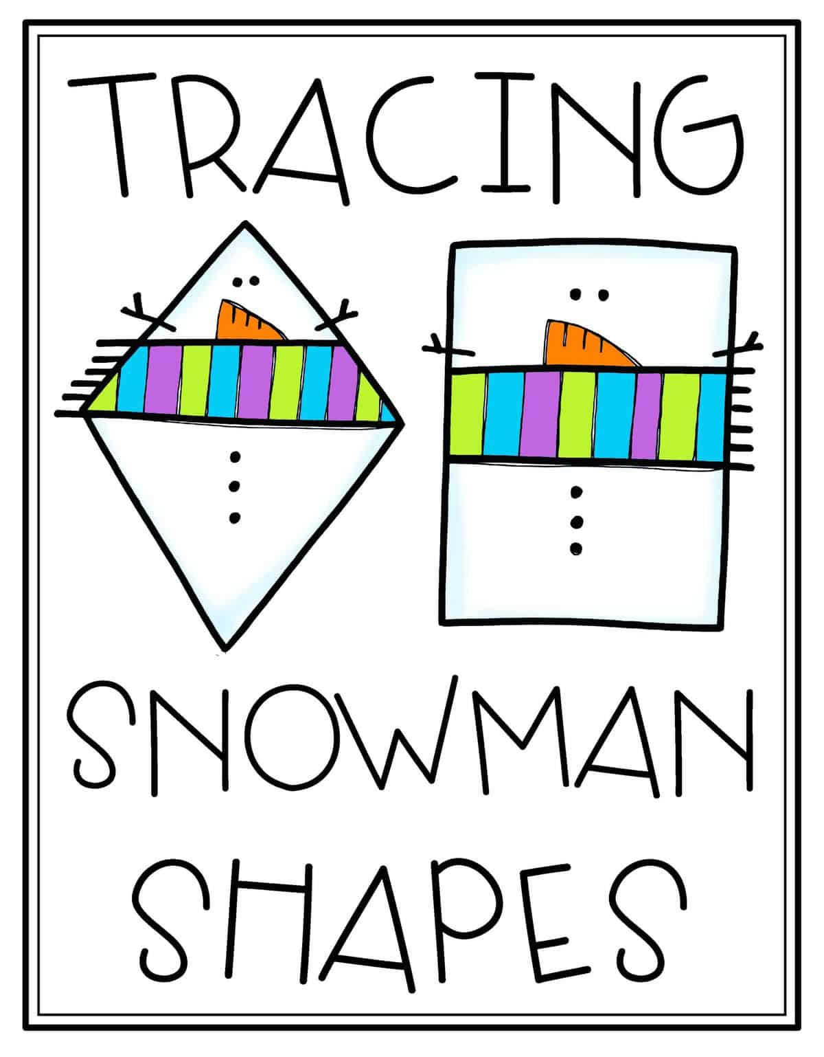 Tracing Snowman Shapes Activity