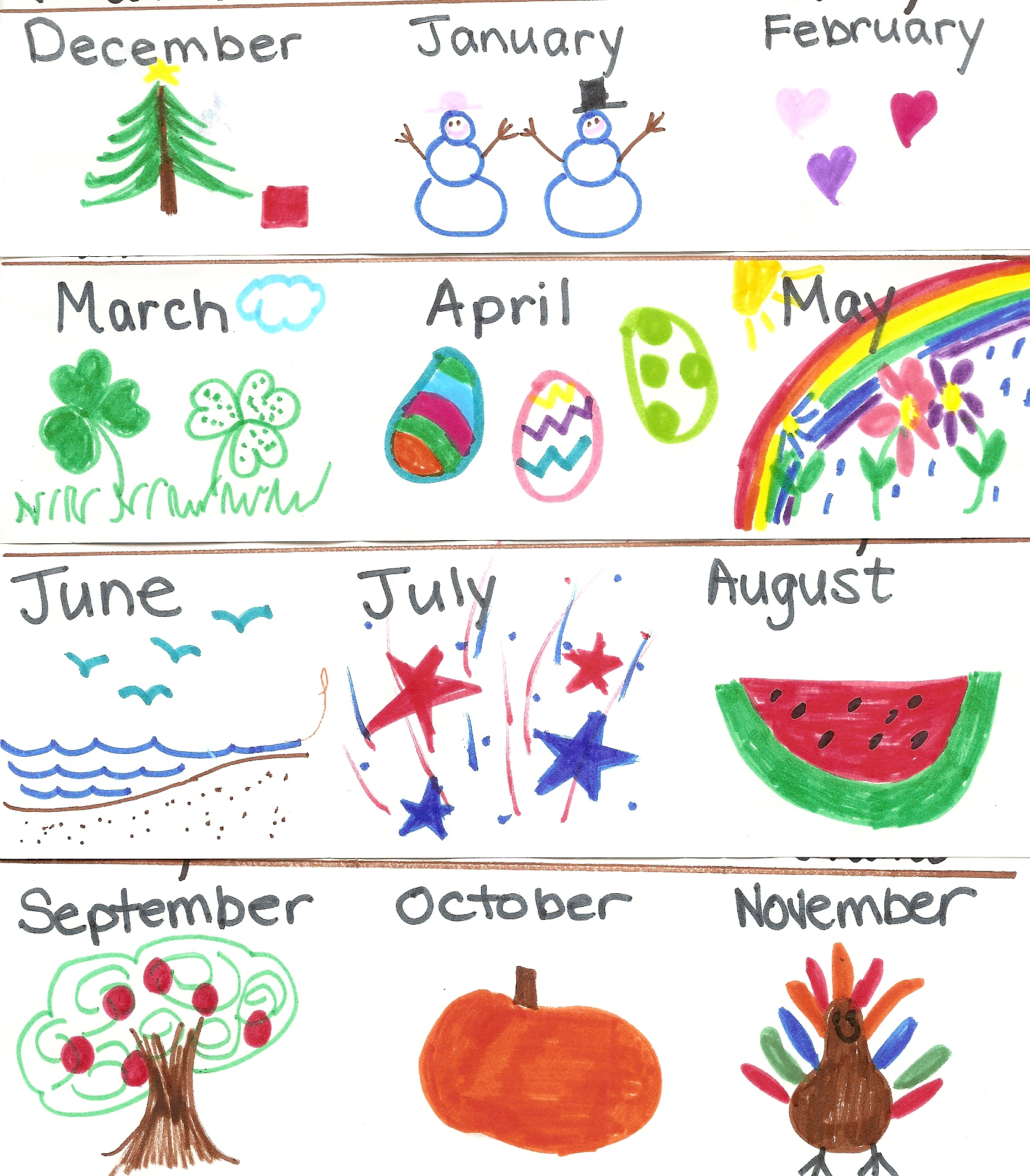 Graphing With Preschoolers Favorite Months