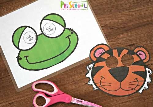 small resolution of FREE Printable Animal Masks Templates