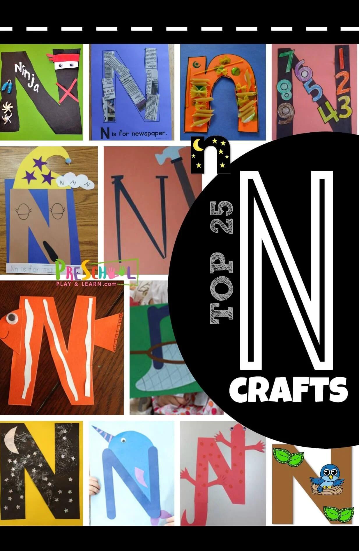 Top 25 Letter N Crafts