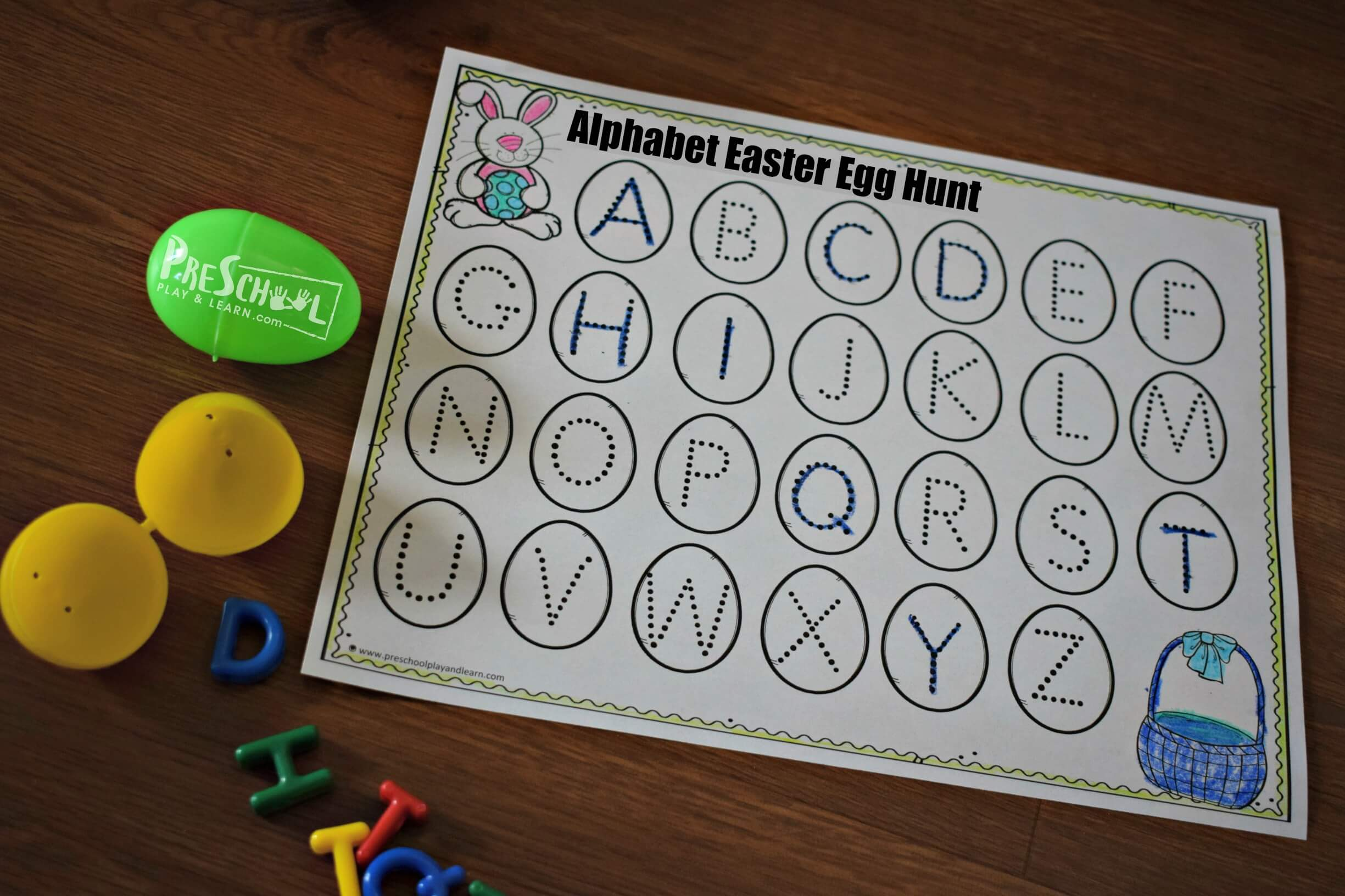 Free Alphabet Easter Egg Hunt