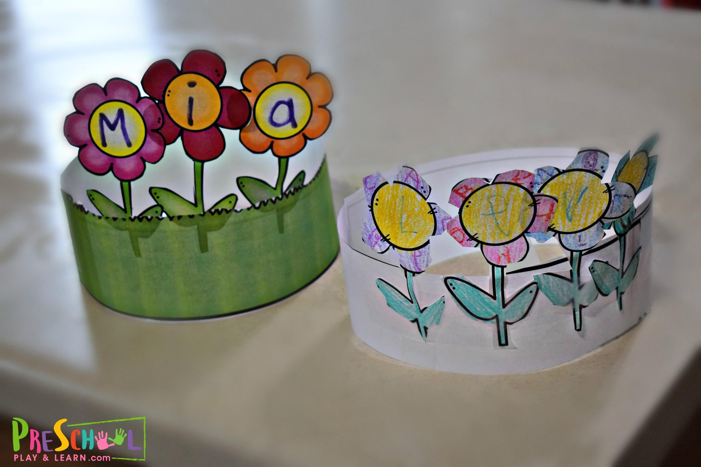 Printable Name Flower Craft