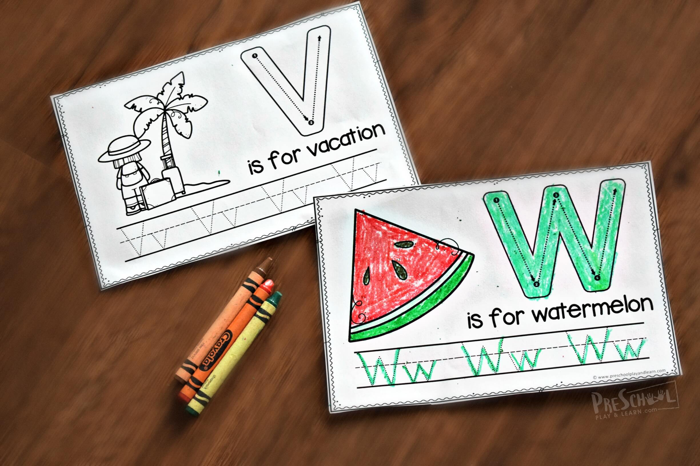 Free Summer Handwriting Worksheets