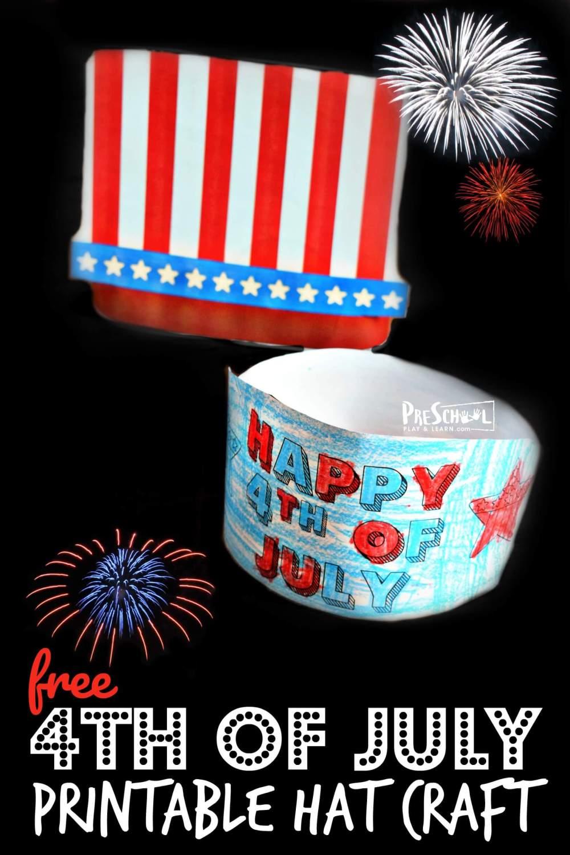 medium resolution of 4th of July Hat Craft