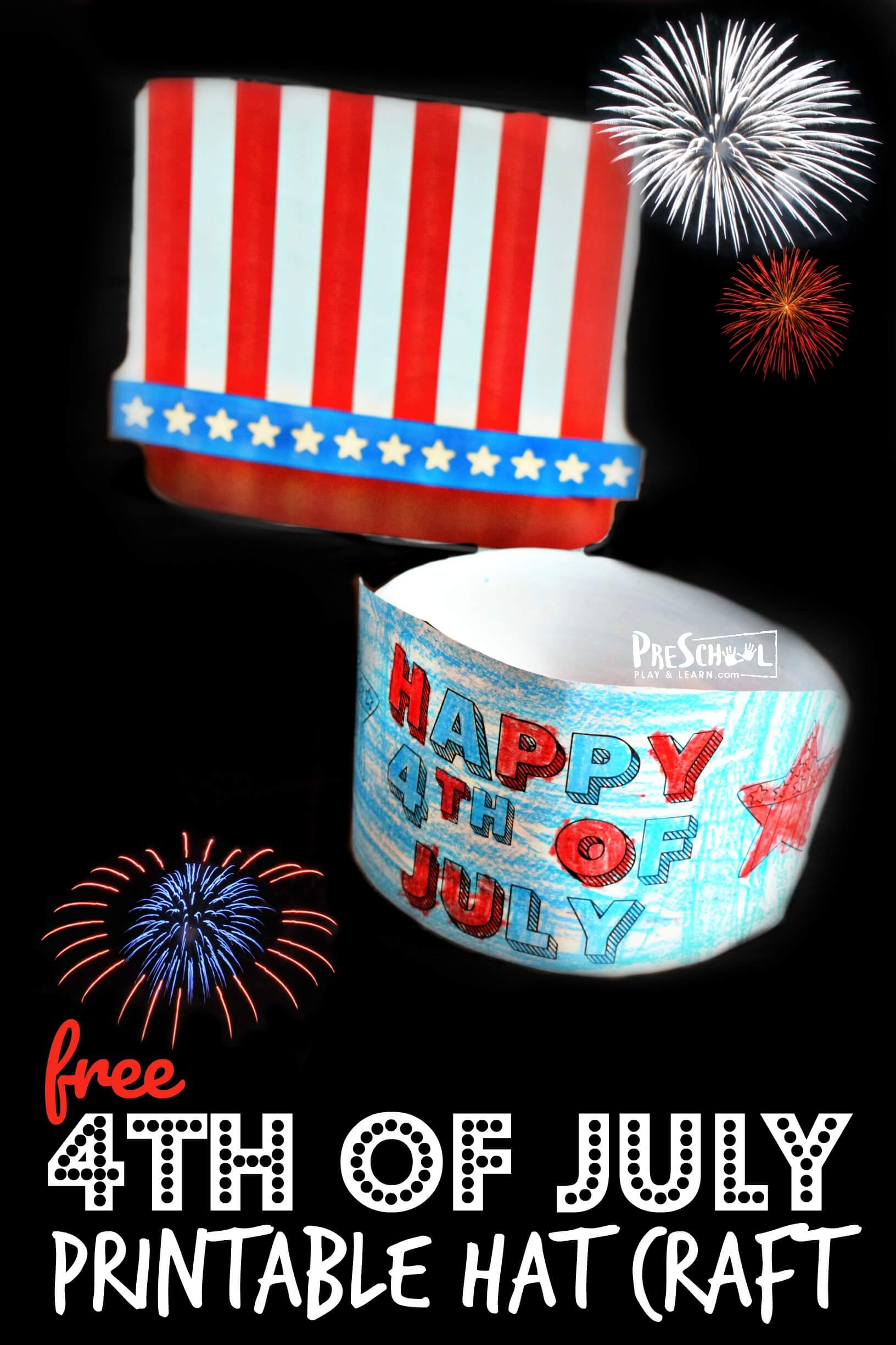 hight resolution of 4th of July Hat Craft