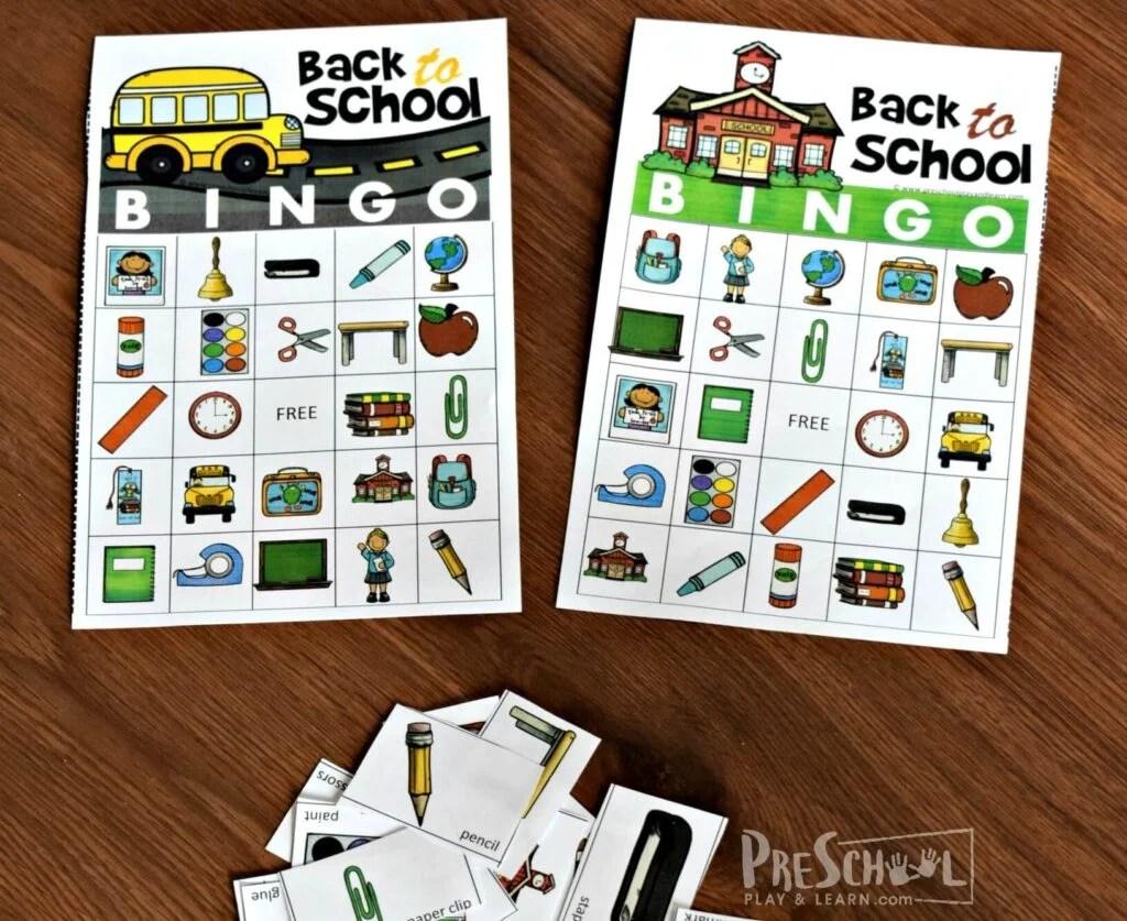 Free Back To School Bingo Game