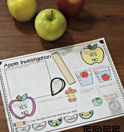 FREE Apple Science Experiment Worksheet [ 2449 x 1632 Pixel ]