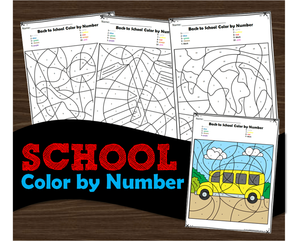 medium resolution of FREE Back to School Color by Number