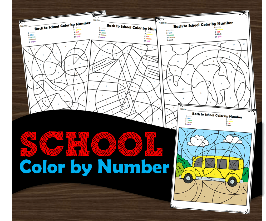 hight resolution of FREE Back to School Color by Number