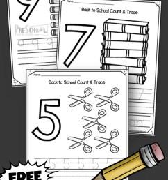 FREE Back to School 1-10 Number Worksheets [ 2000 x 1135 Pixel ]