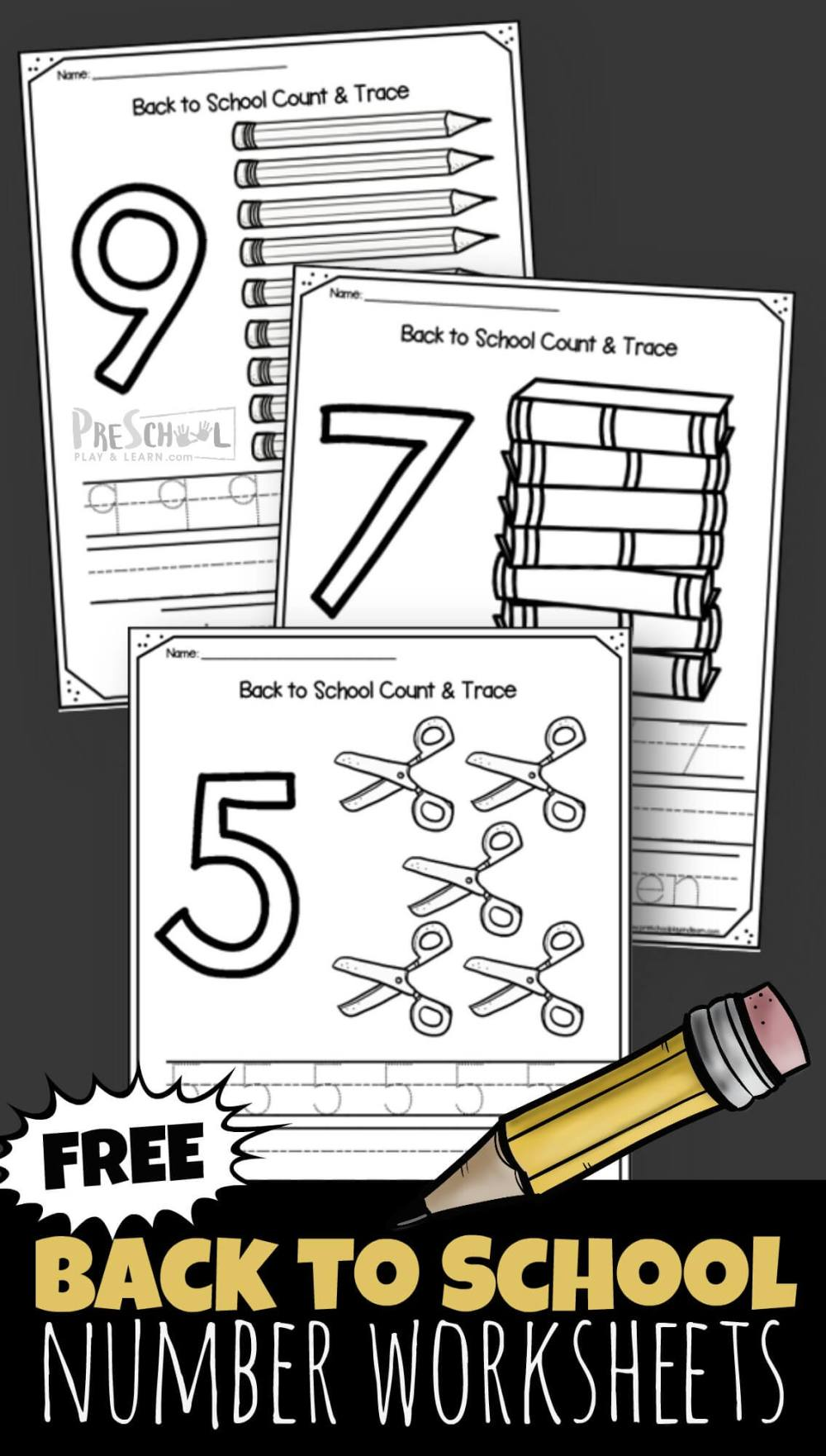 medium resolution of FREE Back to School 1-10 Number Worksheets