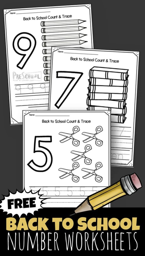 small resolution of FREE Back to School 1-10 Number Worksheets