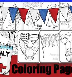 FREE 4th of July Coloring Pages [ 920 x 1196 Pixel ]