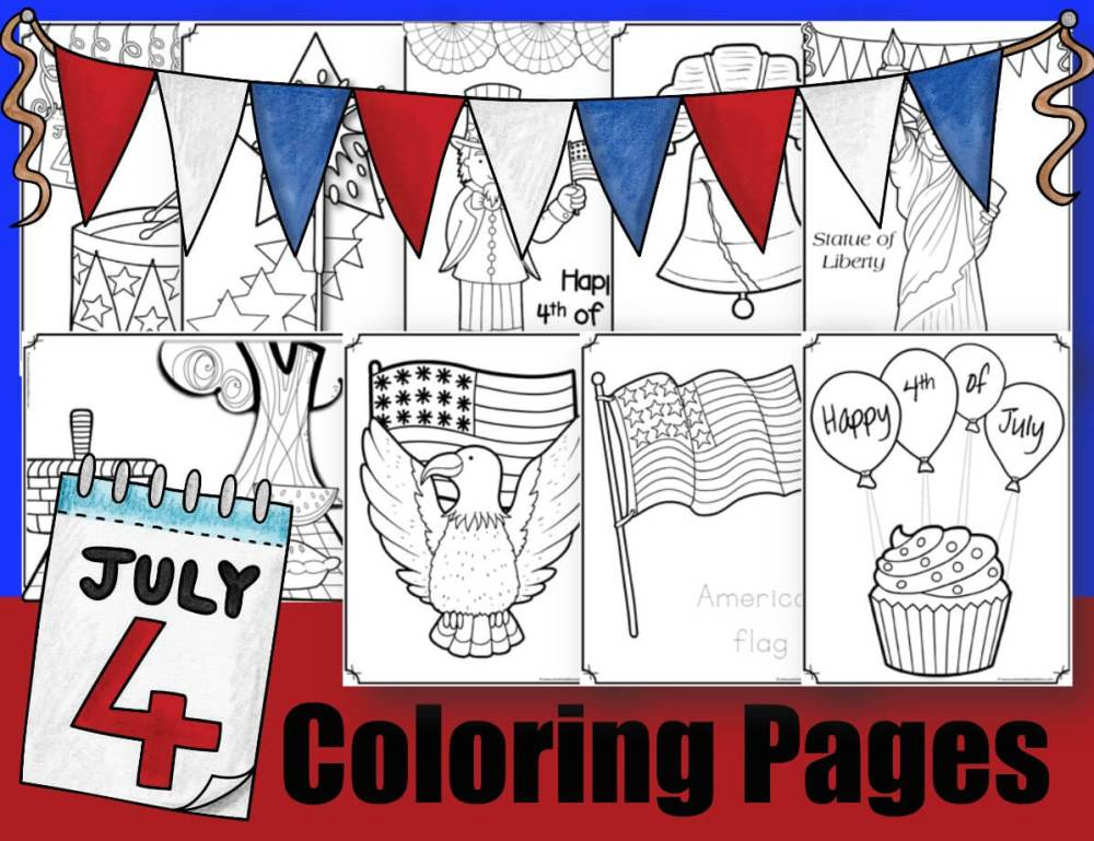 medium resolution of FREE 4th of July Coloring Pages