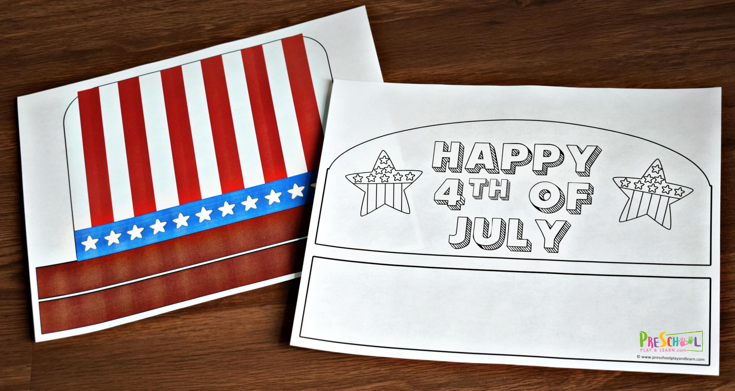 Free 4th Of July Hats Craft For Kids