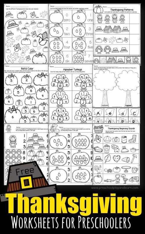 small resolution of Thanksgiving Worksheets for Preschoolers
