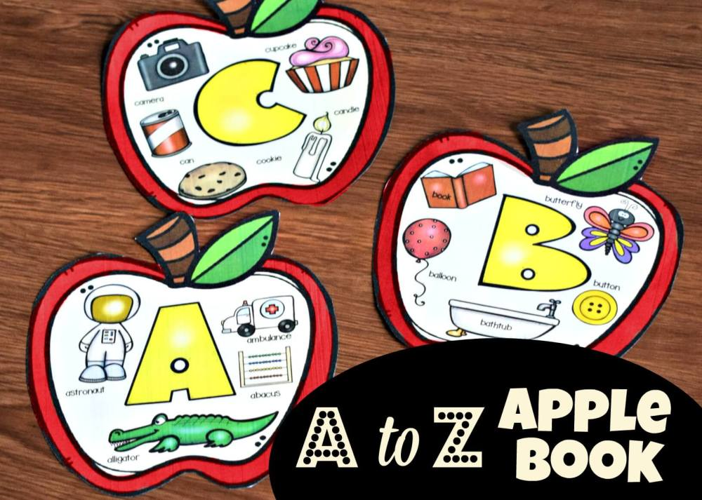 medium resolution of A is for Apple Printable Book (beginning sounds)