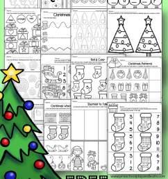 🎄 FREE Christmas Worksheets for Preschool [ 1876 x 1089 Pixel ]