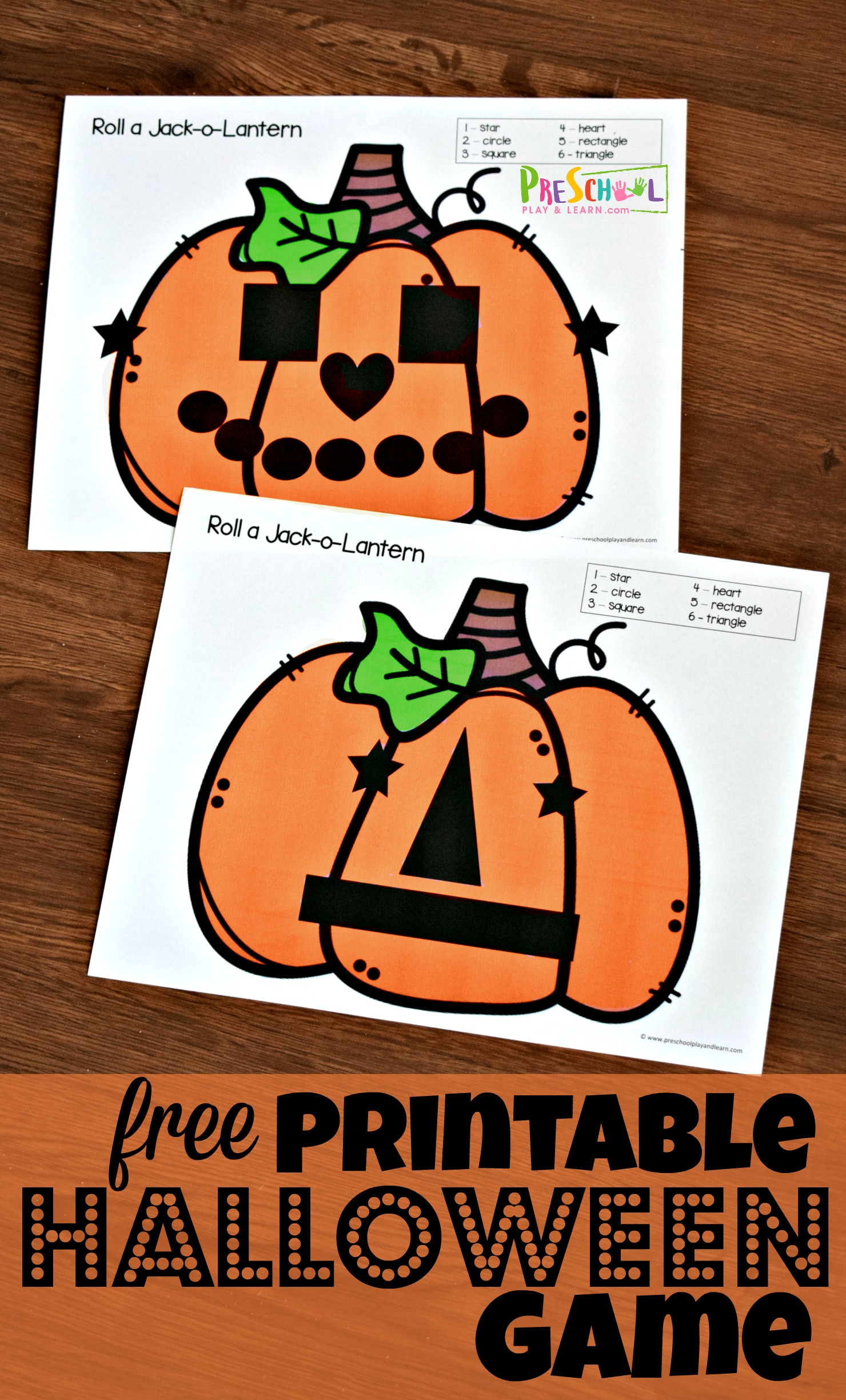 Roll A Jack O Lantern Printable