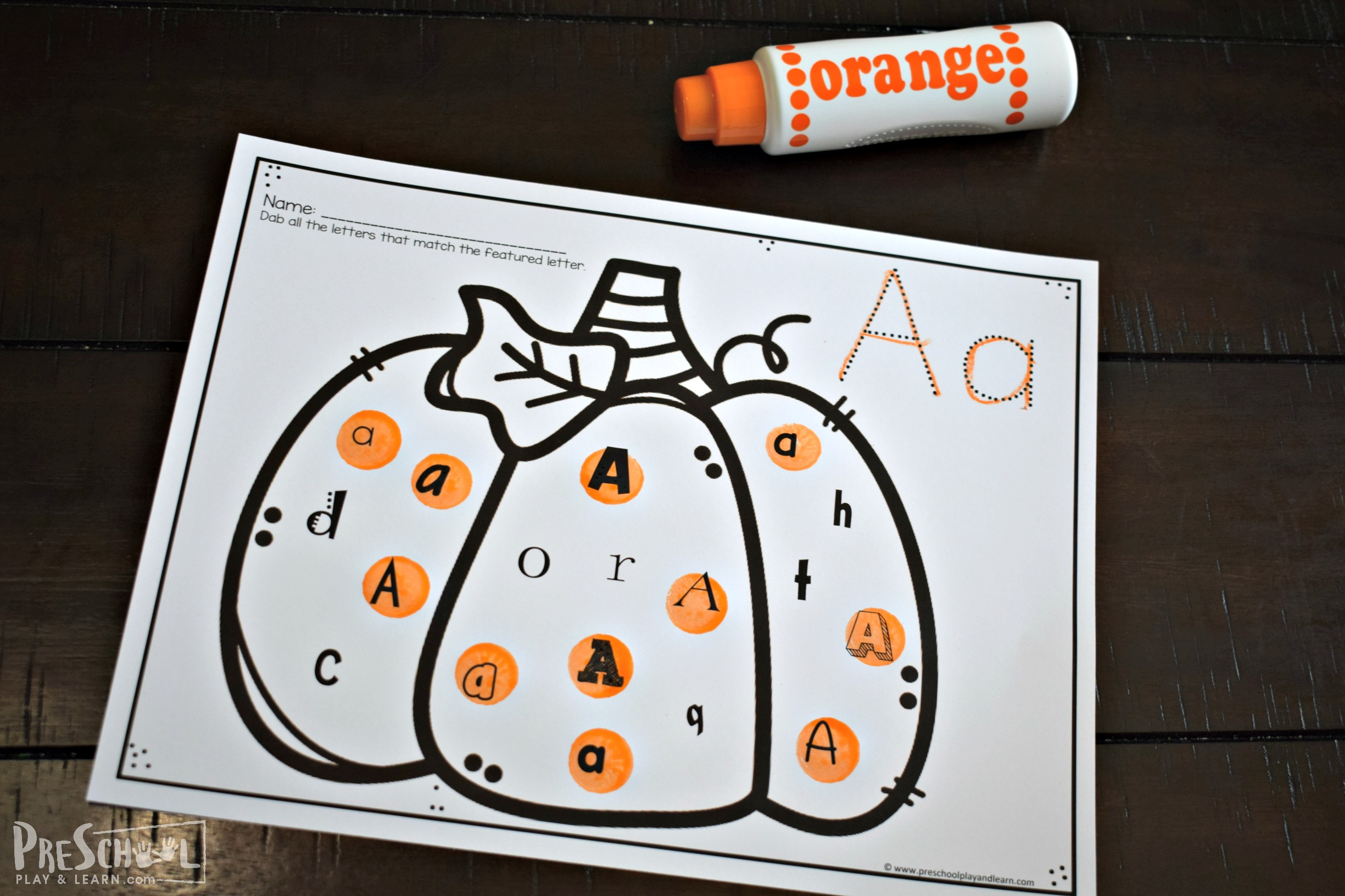 Free Pumpkin Activity Printables