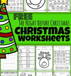 FREE 🎄The Night Before Christmas Worksheets [ 2000 x 1233 Pixel ]